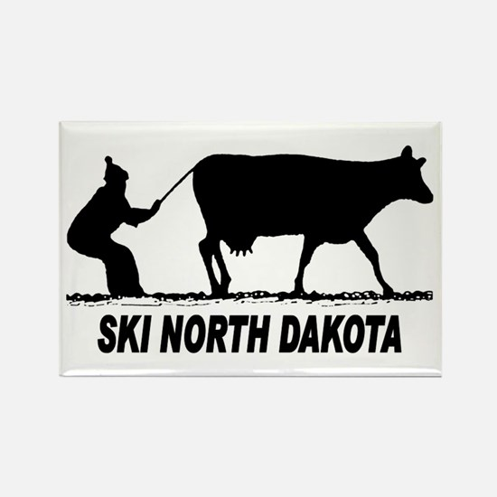 Ski North Dakota Rectangle Magnet