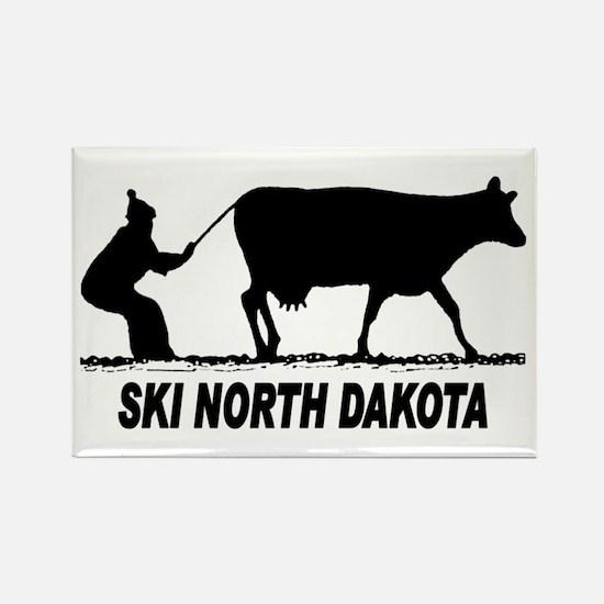 Ski North Dakota Rectangle Magnet (10 pack)