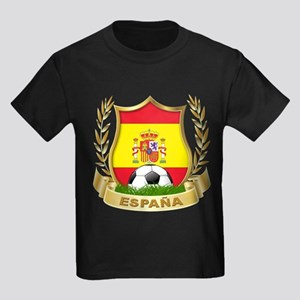 Spain World Cup Soccer Kids Dark T-Shirt