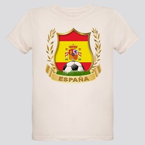 Spain World Cup Soccer Organic Kids T-Shirt