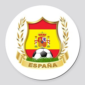 Spain World Cup Soccer Round Car Magnet