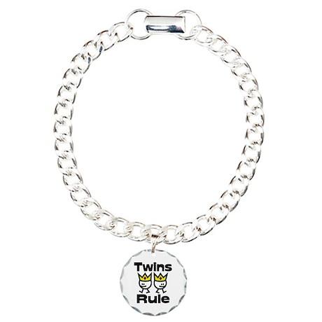 Twins Rule Charm Bracelet, One Charm