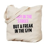 Lady in the street Tote Bag