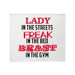 Lady freak beast Throw Blanket