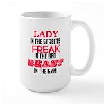 Lady freak beast Large Mug
