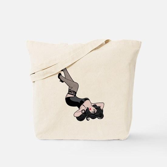 Pinup Line Drawing Tote Bag