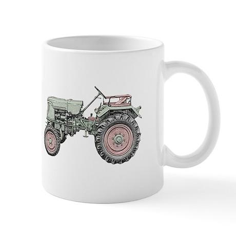 Antique Tractor in color Mug