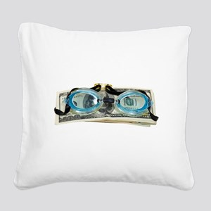 DrowningInDebt091209 Square Canvas Pillow