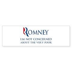 Anti-Romney: Very Poor Sticker (Bumper)