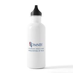 Anti-Romney: Whatever I Said Stainless Water Bottl