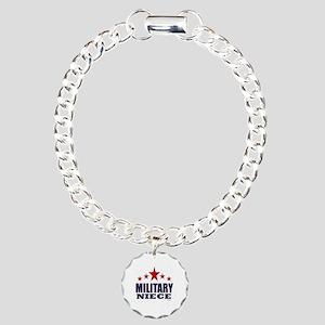 Military Niece Charm Bracelet, One Charm