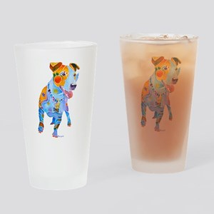 Jack Russell Terrier Many Colors Drinking Glass