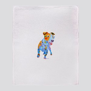 Jack Russell Terrier Many Colors Throw Blanket