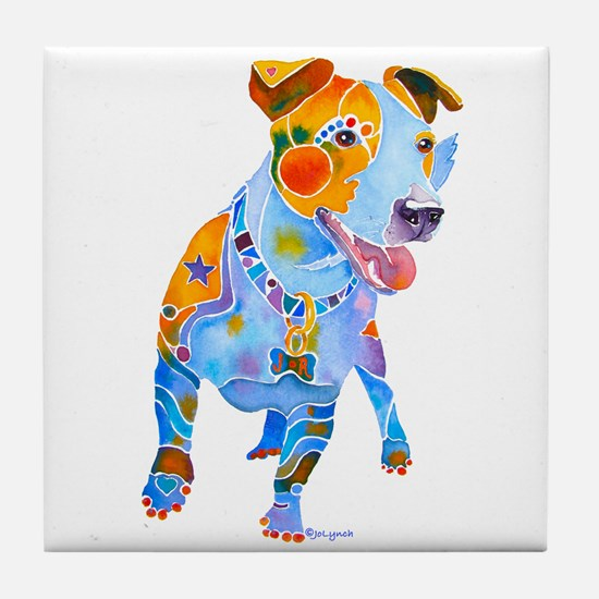 Jack Russell Terrier Many Colors Tile Coaster