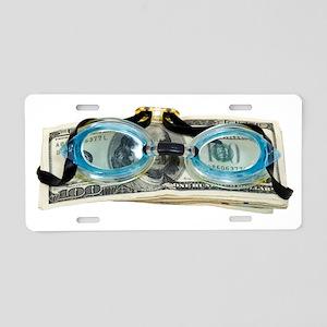 DrowningInDebt091209 Aluminum License Plate