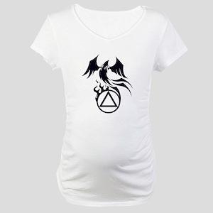 A.A. Logo Phoenix B&W - Maternity T-Shirt