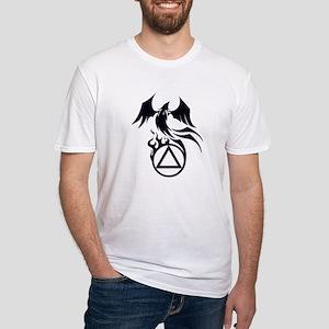 A.A. Logo Phoenix B&W - Fitted T-Shirt