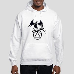 A.A. Logo Phoenix B&W - Hooded Sweatshirt