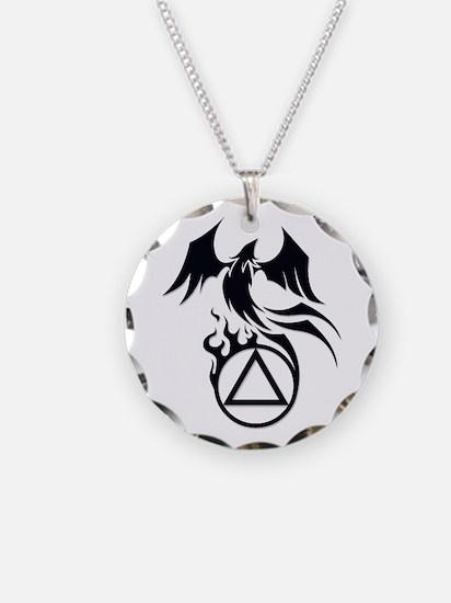 A.A. Logo Phoenix B&W - Necklace