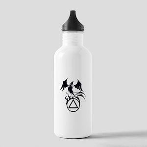A.A. Logo Phoenix B&W - Stainless Water Bottle 1.0