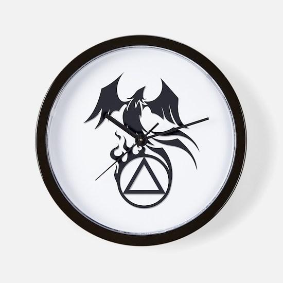 A.A. Logo Phoenix B&W - Wall Clock