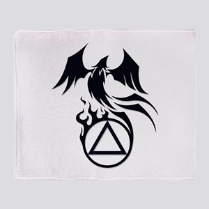 A.A. Logo Phoenix B&W - Throw Blanket