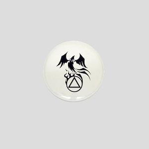 A.A. Logo Phoenix B&W - Mini Button