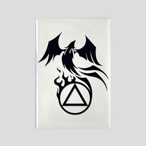 A.A. Logo Phoenix B&W - Rectangle Magnet