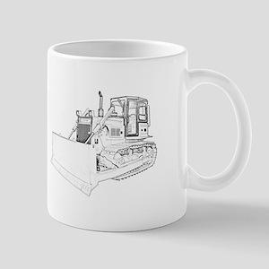 Bulldozer in b&w Mug