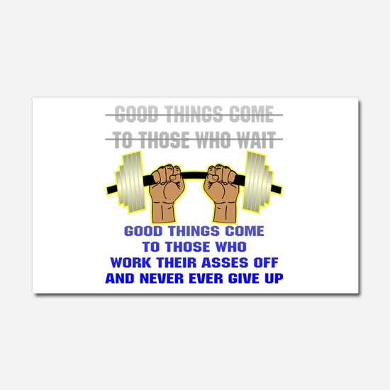 Good Things Come Car Magnet 20 x 12
