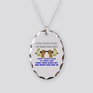 Good Things Come Necklace Oval Charm