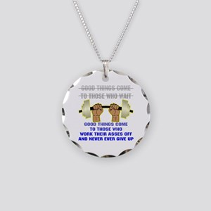 Good Things Come Necklace Circle Charm