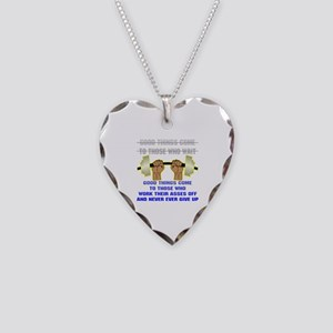 Good Things Come Necklace Heart Charm