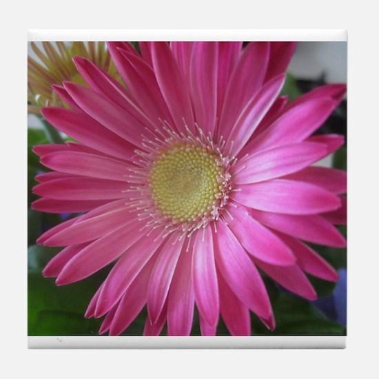 Pink Daisy Princess Tile Coaster