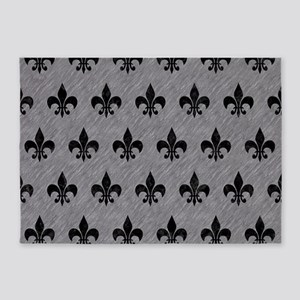 ROYAL1 BLACK MARBLE & GRAY COLORED 5'x7'Area Rug
