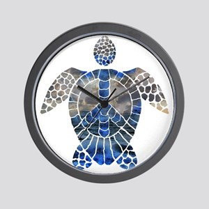 Sea Turtle Peace Wall Clock