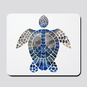 Sea Turtle Peace Mousepad
