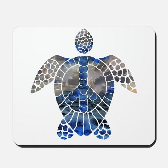 Sea Turtle Peace Mousepad