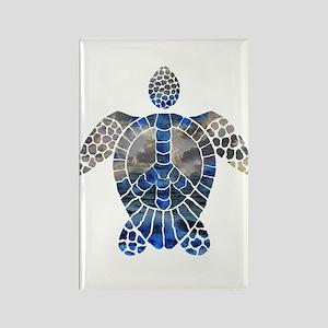 Sea Turtle Peace Rectangle Magnet