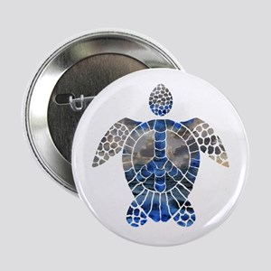 "Sea Turtle Peace 2.25"" Button"