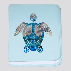 Sea Turtle Peace baby blanket