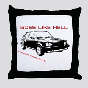 Goes Like Hell Throw Pillow