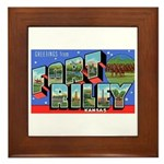 Fort Riley Kansas Framed Tile