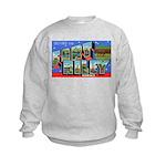 Fort Riley Kansas (Front) Kids Sweatshirt
