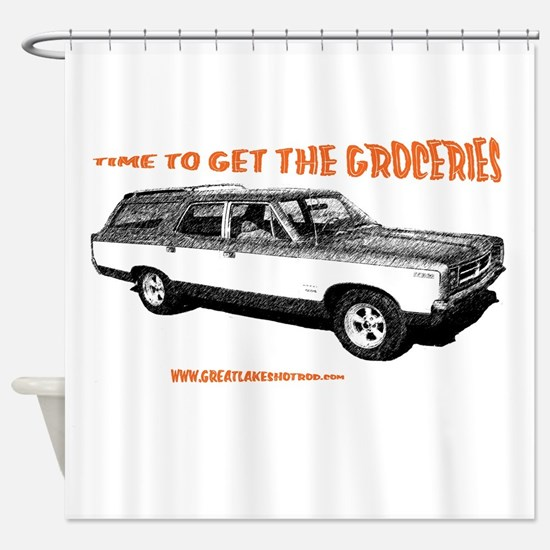 GET THE GROCERIES Shower Curtain