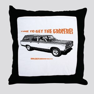 GET THE GROCERIES Throw Pillow