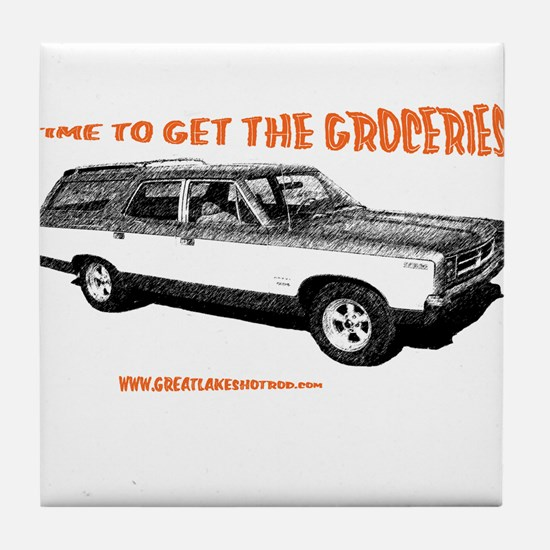 GET THE GROCERIES Tile Coaster
