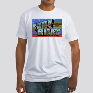 Fort Riley Kansas (Front) Fitted T-Shirt