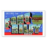 Fort Riley Kansas Rectangle Sticker