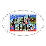 Fort Riley Kansas Oval Sticker